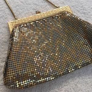 Vintage Whiting & Davis Gold Mesh Purse Handbag